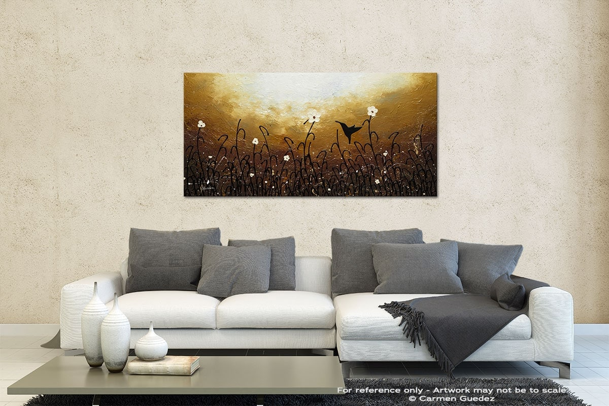 Blossom And Bird Contemporary Abstract Art Id35