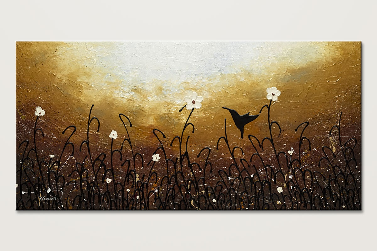 Blossom And Bird Flowers And Bird Painting Id80