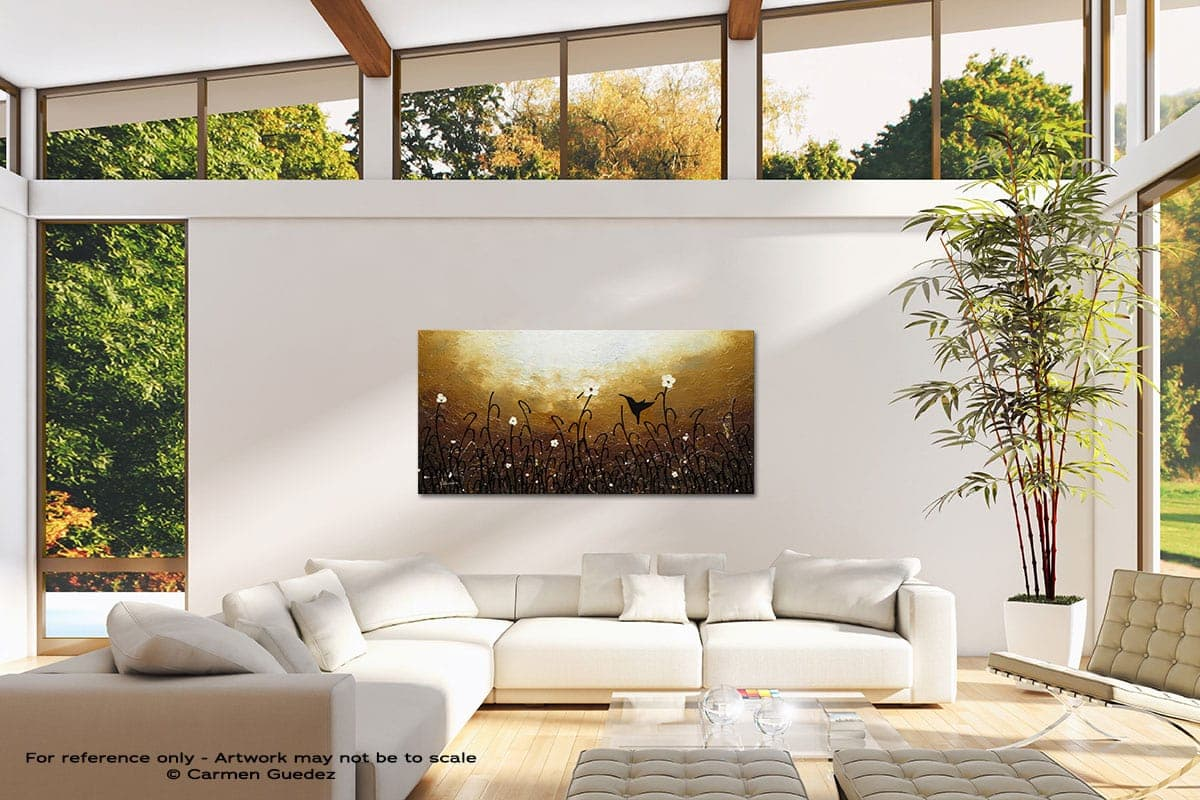 Blossom And Bird Modern Canvas Abstract Art Id38
