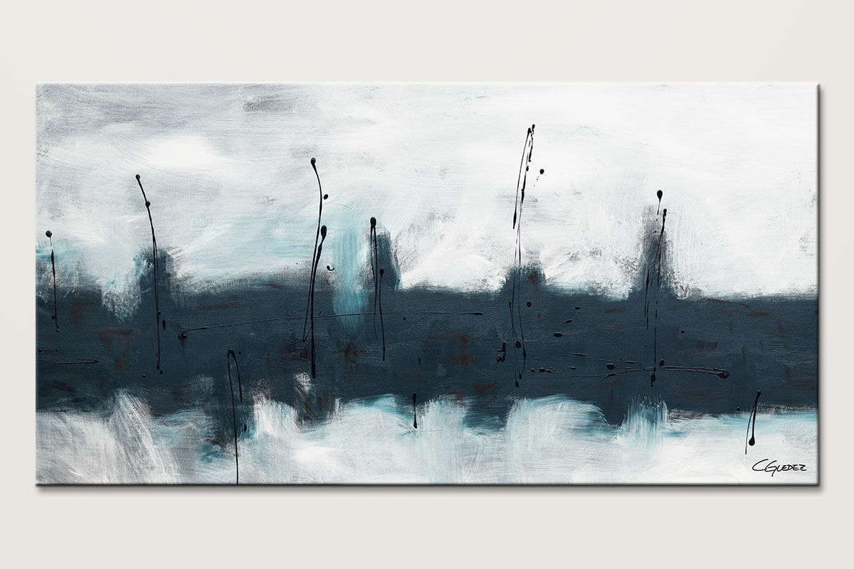 Oversized Abstract Wall Art - Blue Harbour