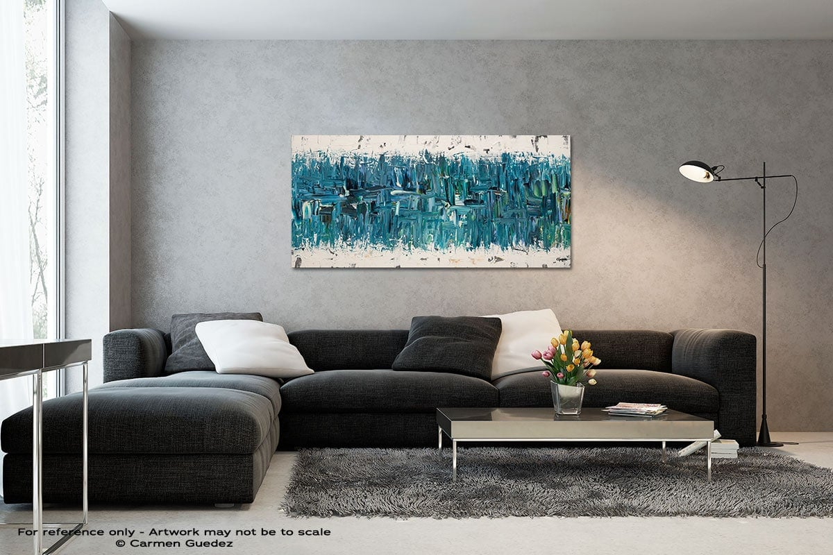 Blue Nile Black And White Wall Abstract Art Painting Id70