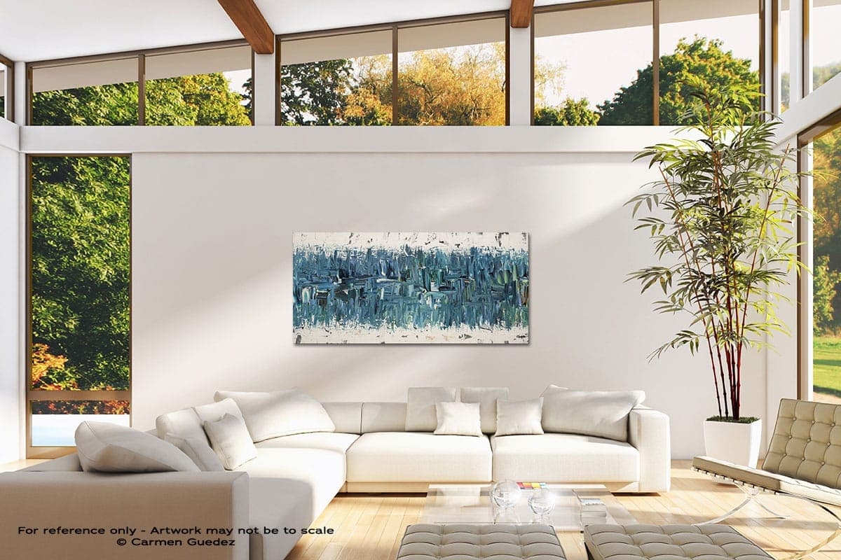 Blue Nile Modern Canvas Abstract Art Id38
