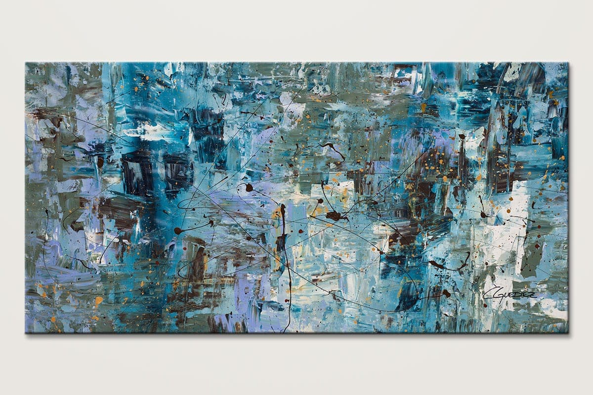 Genial Blue Ocean. LARGE ABSTRACT PAINTING