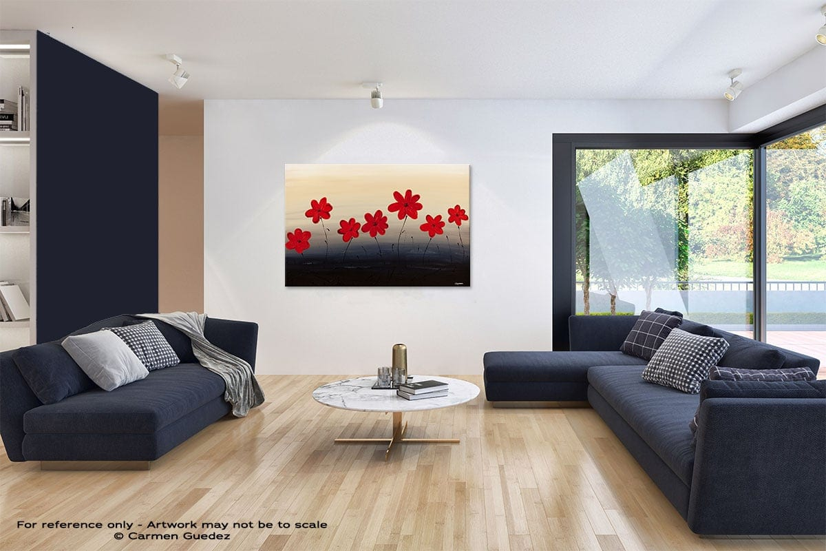 Blue Ridge Mountain Flowers Abstract Art Blue Interior Home Id59