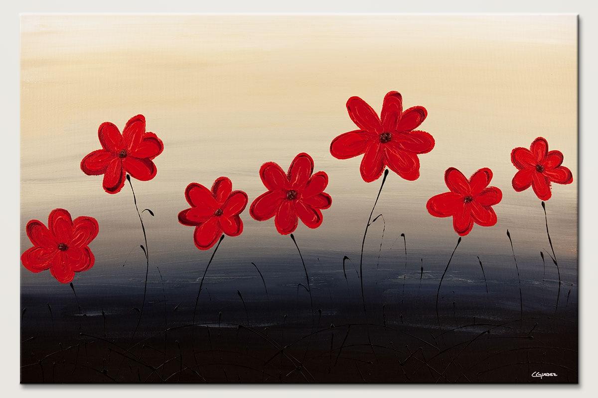 Blue Ridge Mountain Flowers Abstract Art Id80