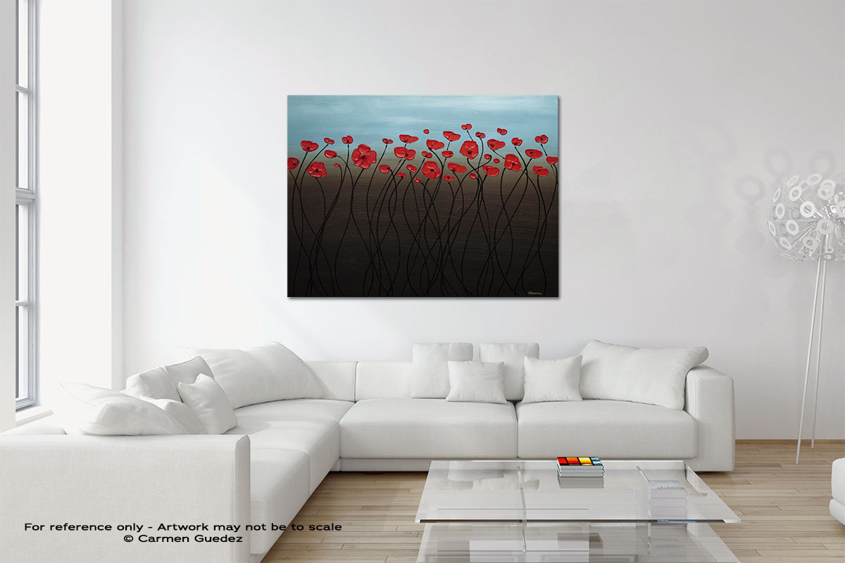 Blue Sky Abstract Art Painting Interior Design Home Id45