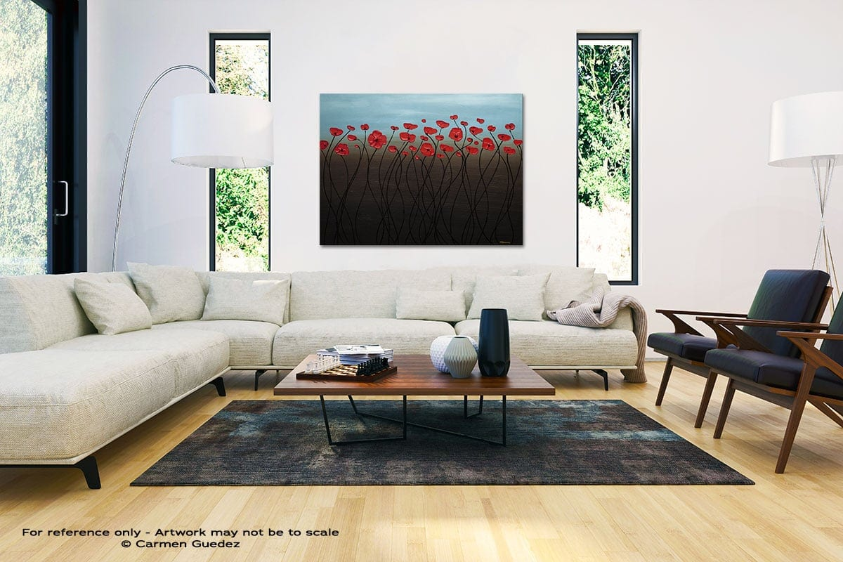 Blue Sky Black And White Interior Decor Abstract Art Id46