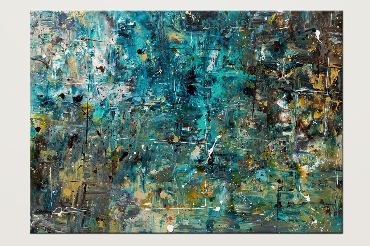 By The Lake Large Abstract Painting On Canvas