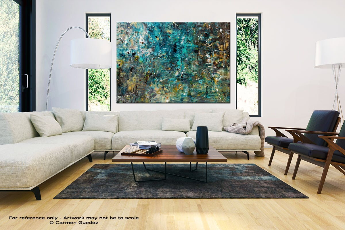 By The Lake Large Oversized Abstract Canvas Painting Id23