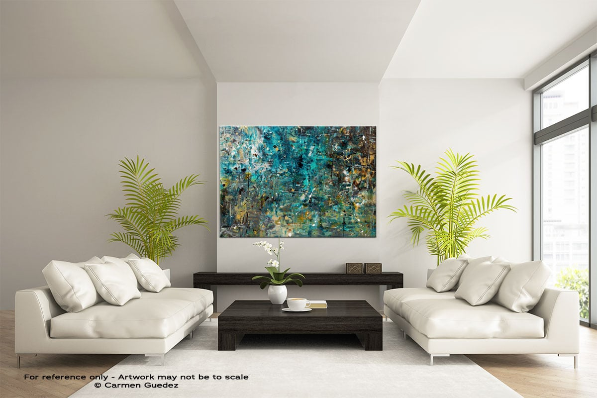 By The Lake Modern Extra Large Abstract Art Id24