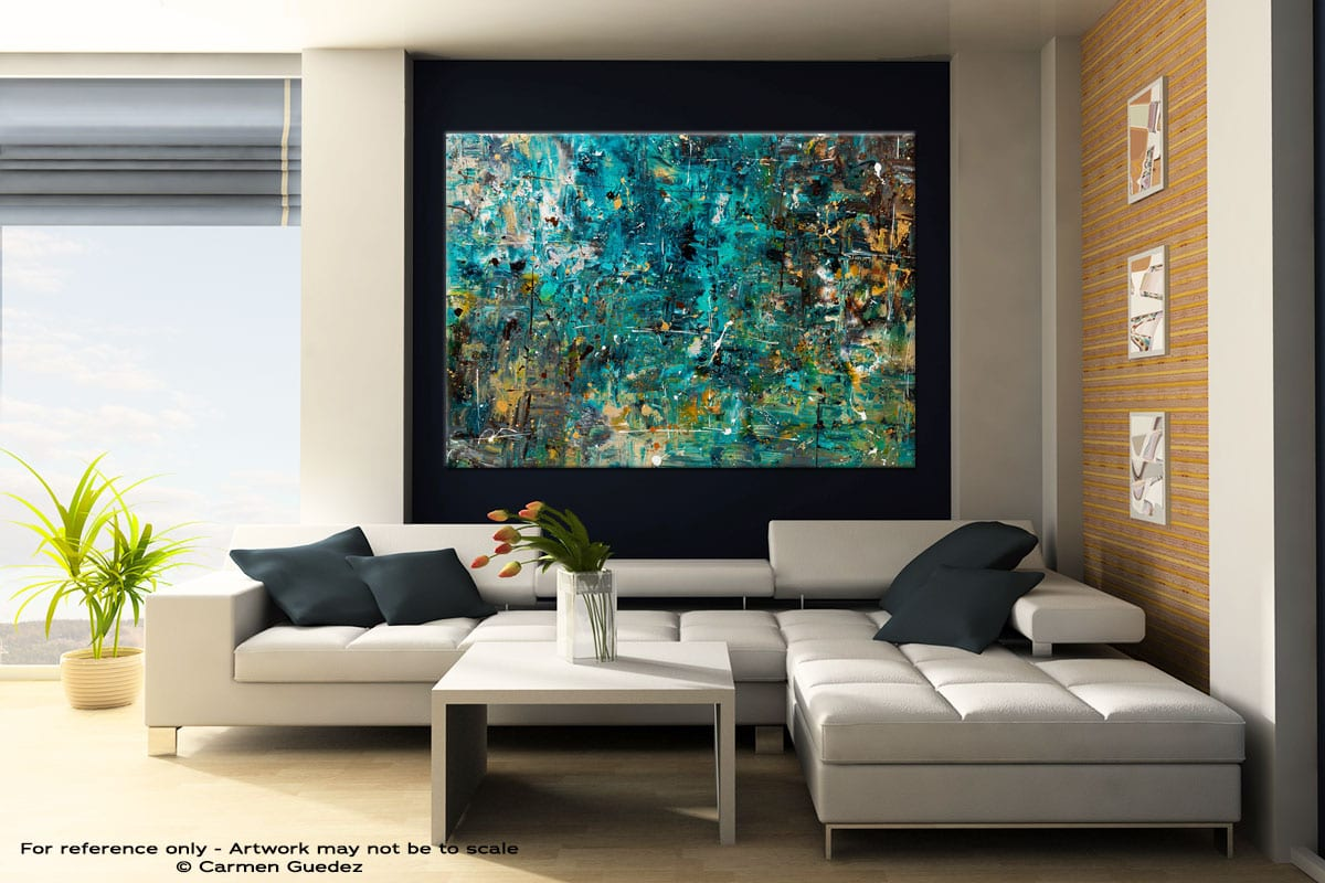 By The Lake Original Extra Large Wall Art Painting Id25