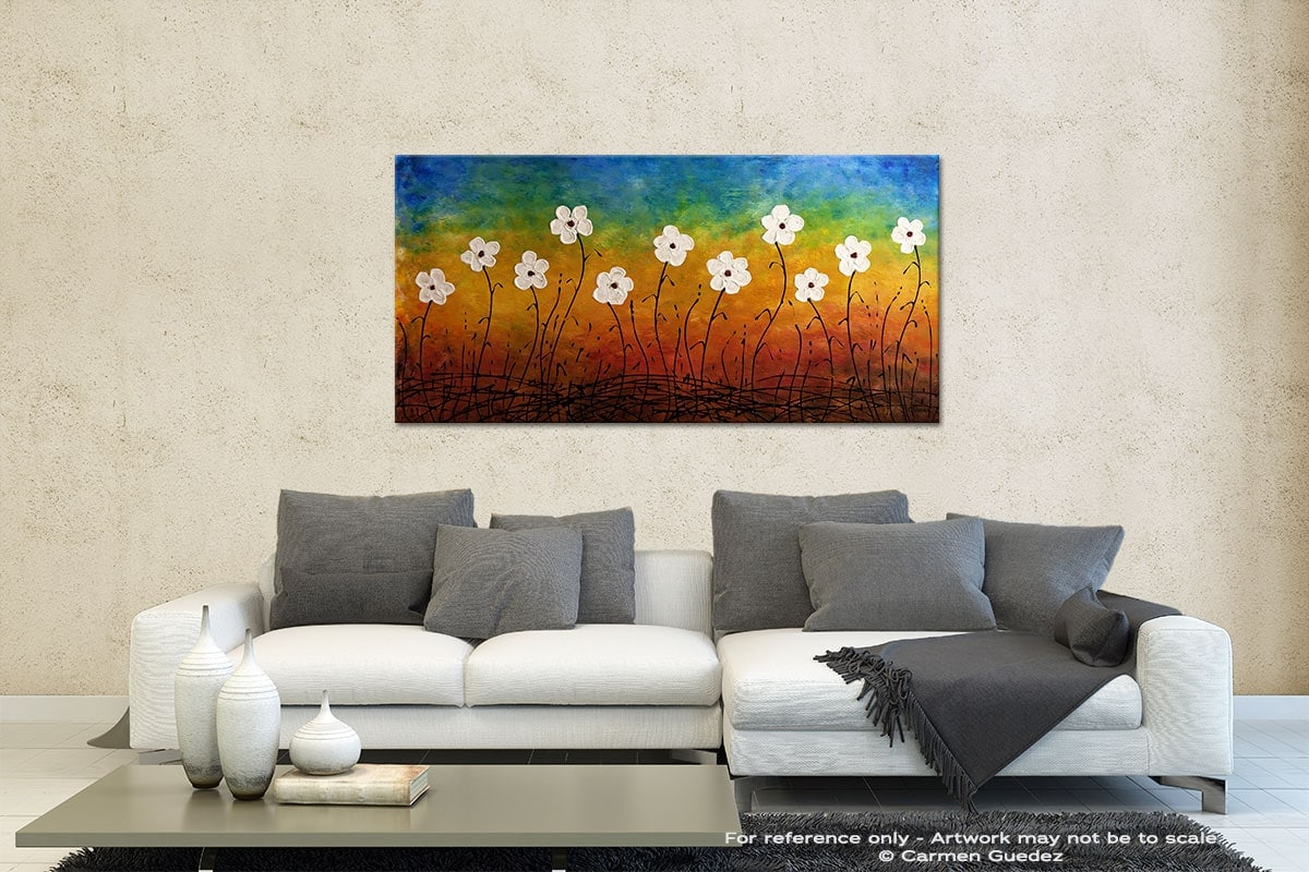 California Morning Poppies Contemporary Abstract Art Id35
