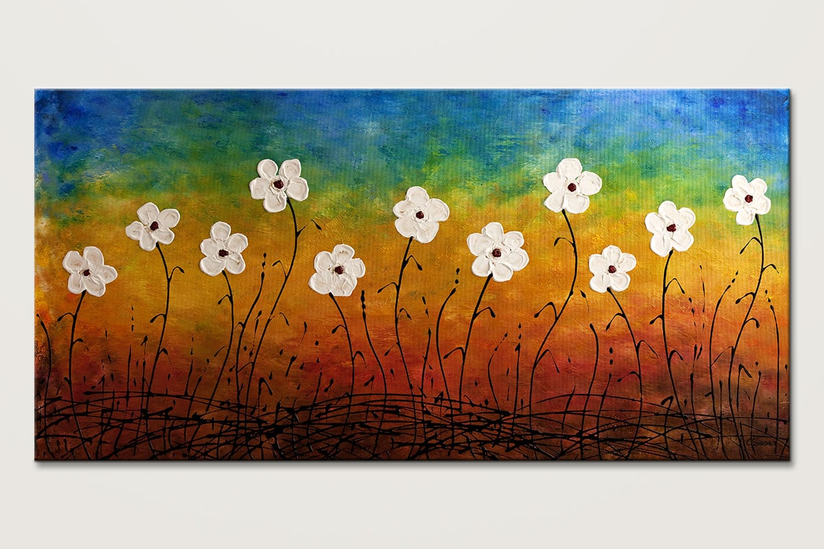 California Morning Poppies Floral Abstract Art Id80