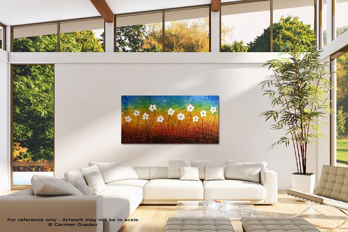 California Morning Poppies Modern Canvas Abstract Art Id38