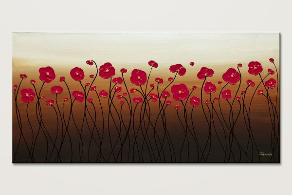 Calm Waters Abstract Painting Of Flowers Id80