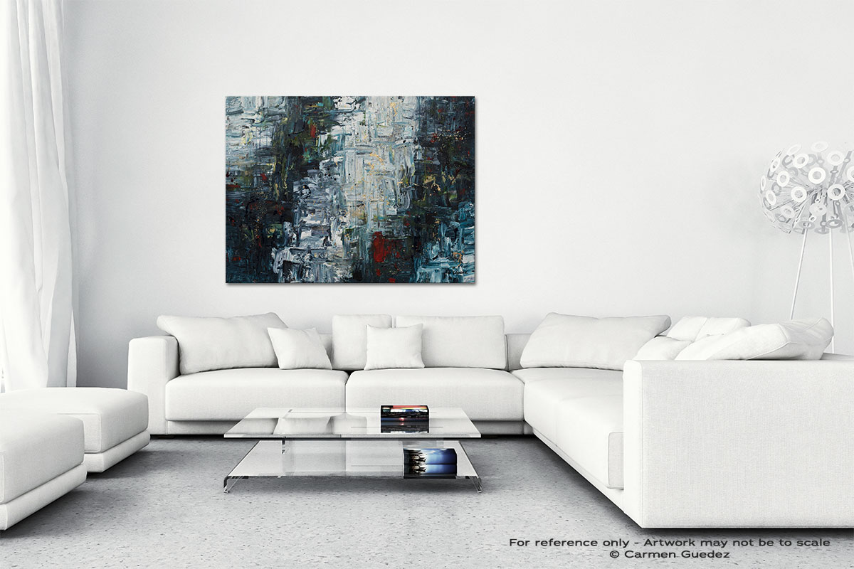 Calming Falls Canvas Art Abstract Painting Id47