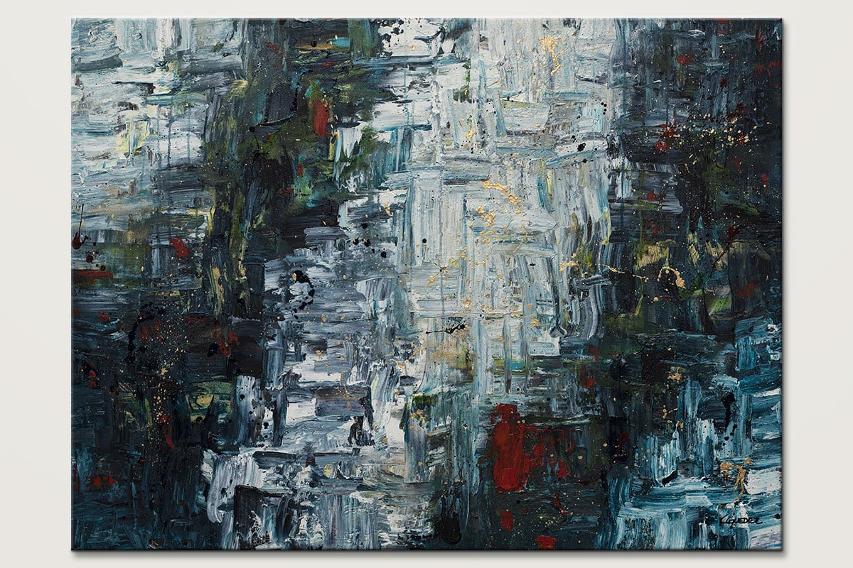 Calming Falls Modern Abstract Art Painting Id80