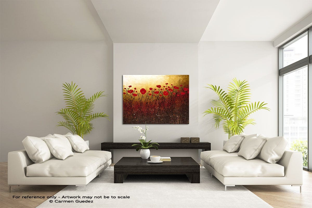 Campo Florido Large Modern Abstract Art Painting Id49
