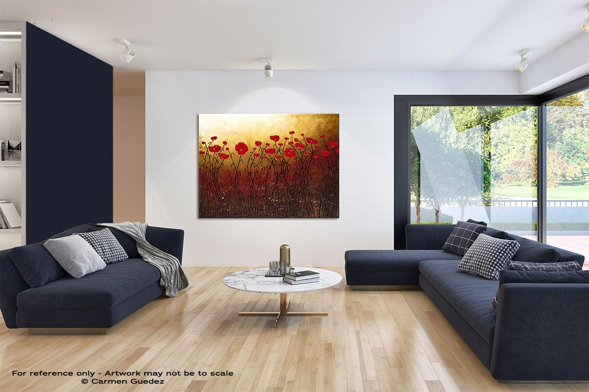 Campo Florido Modern Blue Abstract Painting Home Id50