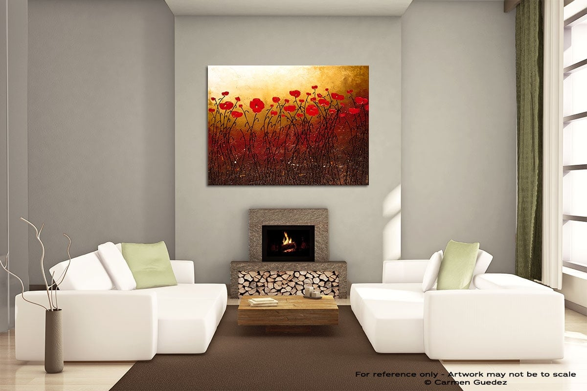 Campo Florido Painting On Canvas Large Living Room Id52