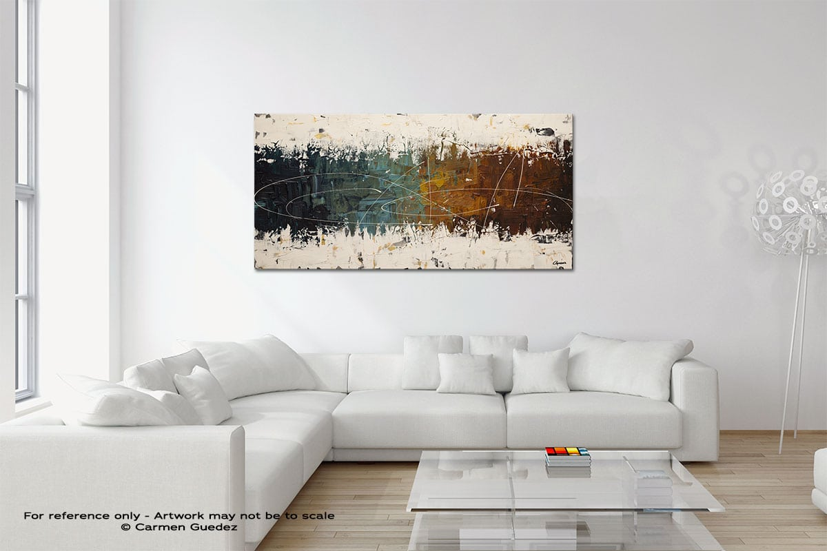 Catch Me If You Can Original Neutral Abstract Wall Art Room Id39
