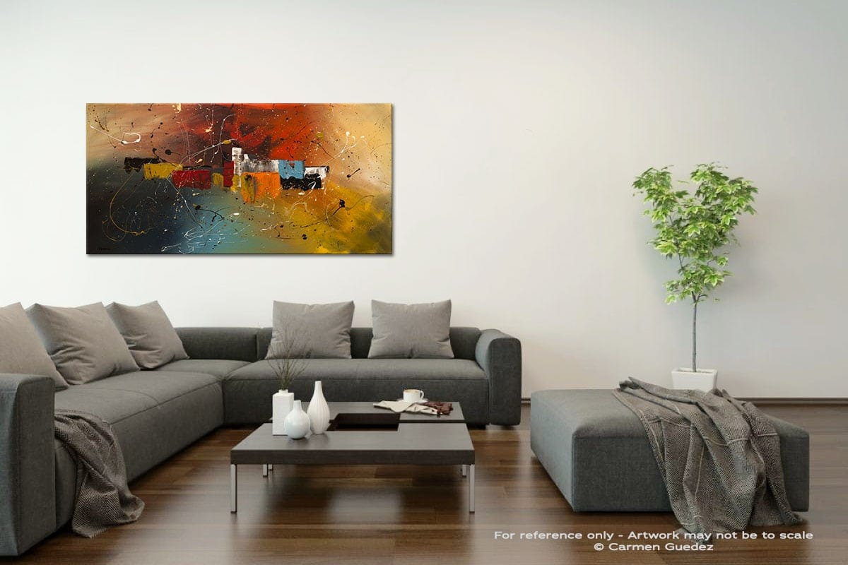 Celebration Acrylic Gray Wall Art Painting Id34
