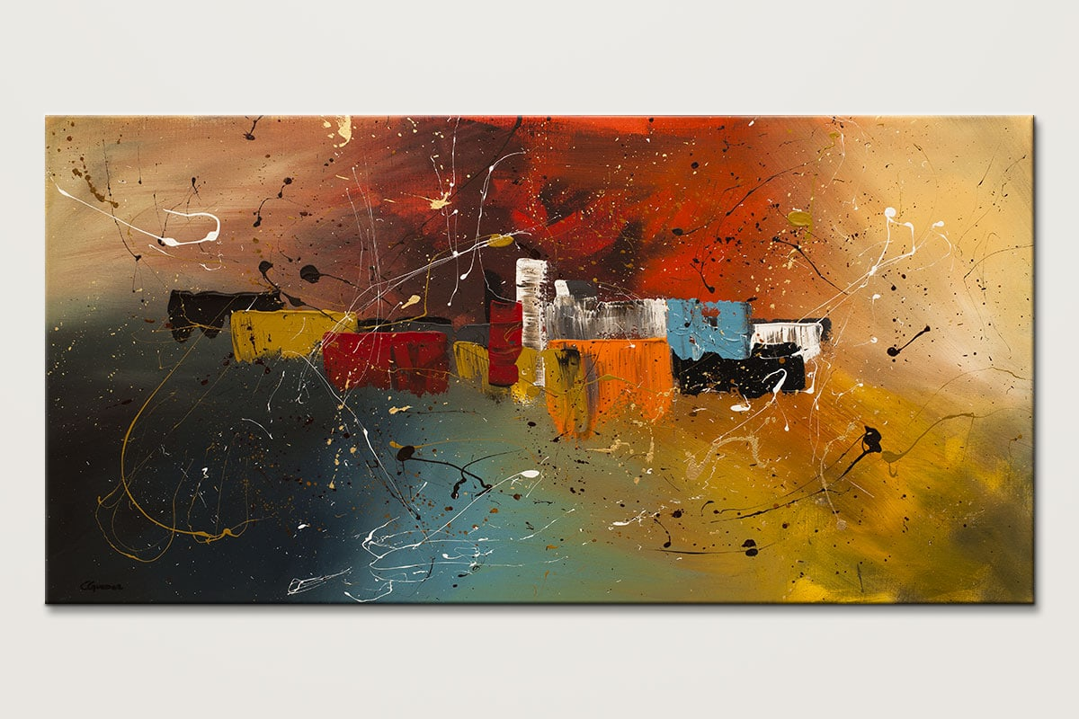 Celebration Modern Abstract Art Painting Id80