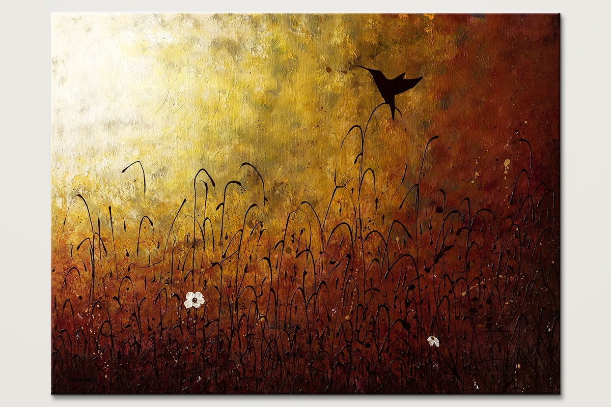Chasing the Light - Abstract Art Painting Image by Carmen Guedez