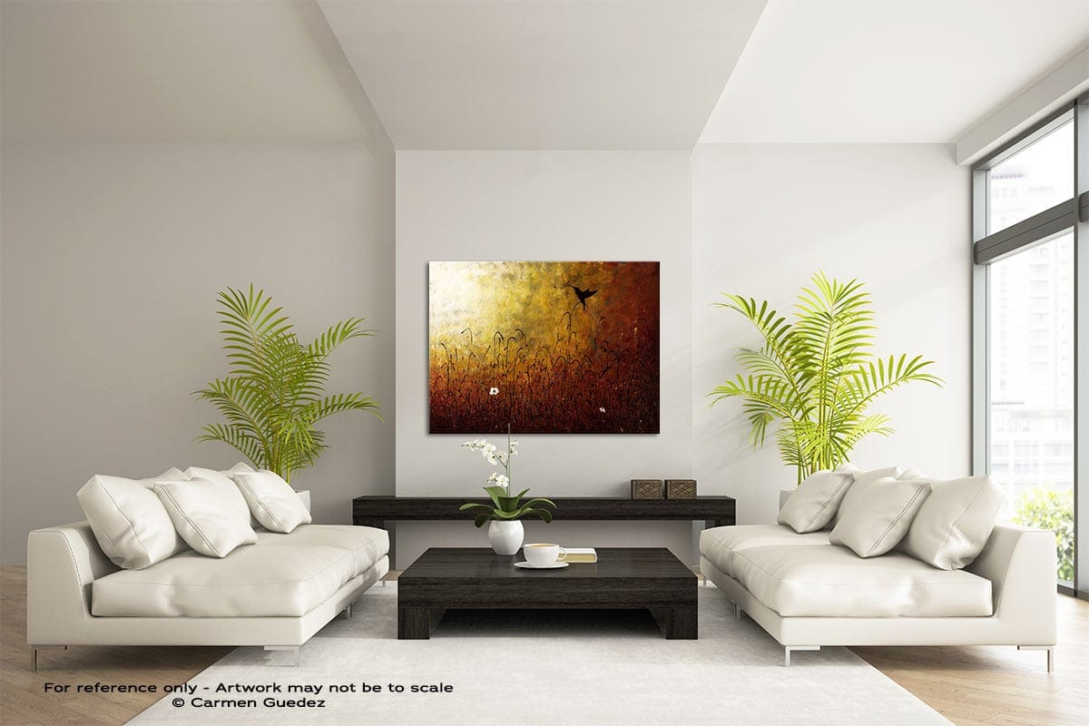 Chasing The Light Large Modern Abstract Art Painting Id49