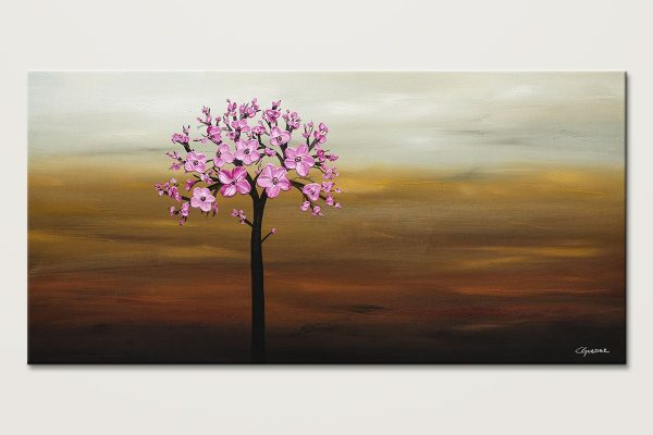 Cherry Blossom Poppy Flower Painting Id80