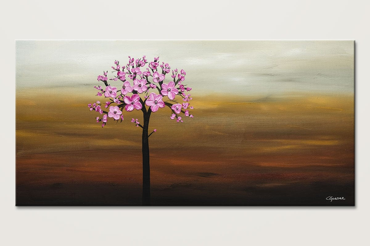 Cherry Blossom - Abstract Art Painting Image by Carmen Guedez