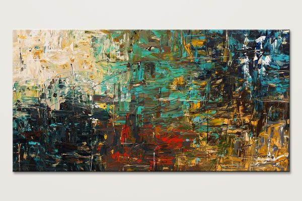 City Life Oversized Abstract Painting Id80