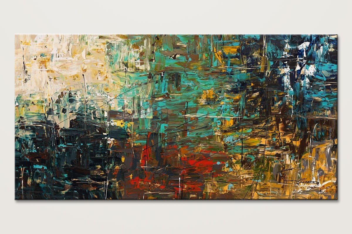 Oversized Abstract Art Painting - City Life