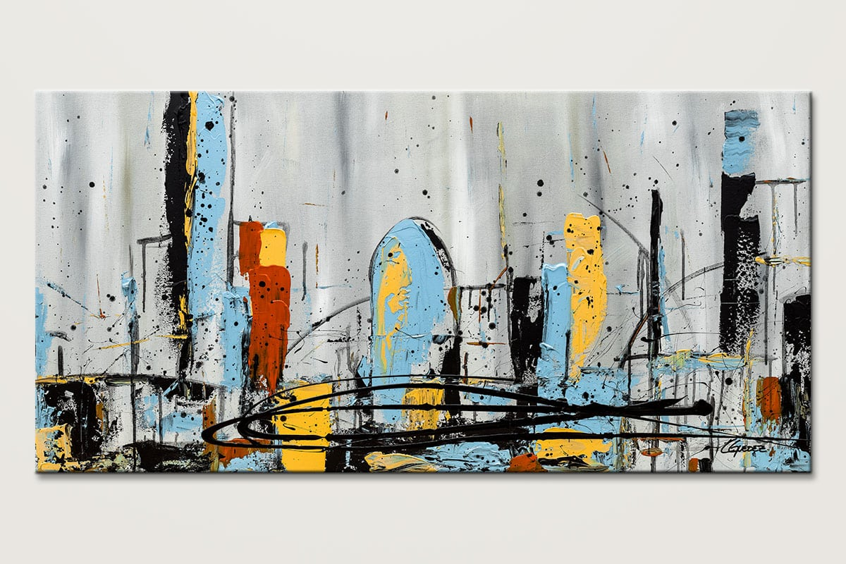 City Limits Cityscape Abstract Art Painting Id80