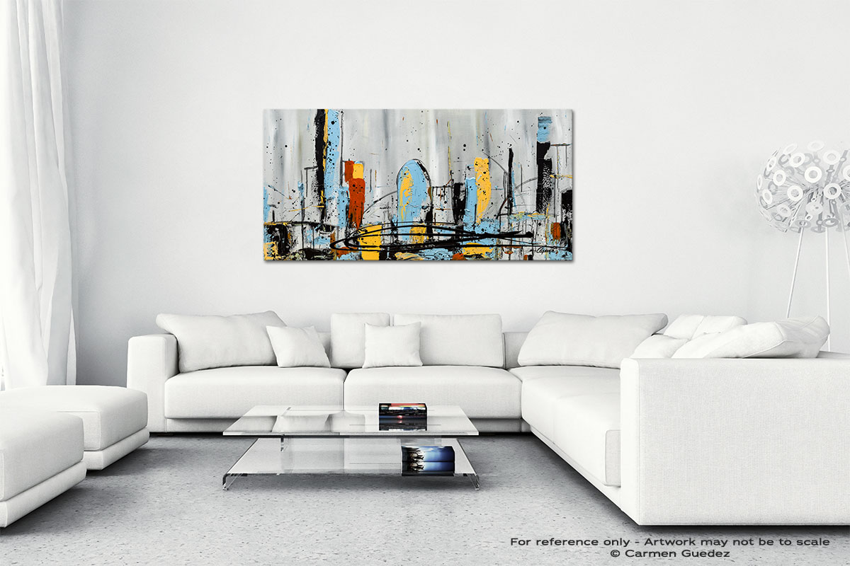 City Limits Wall Art Canvas Painting Id40