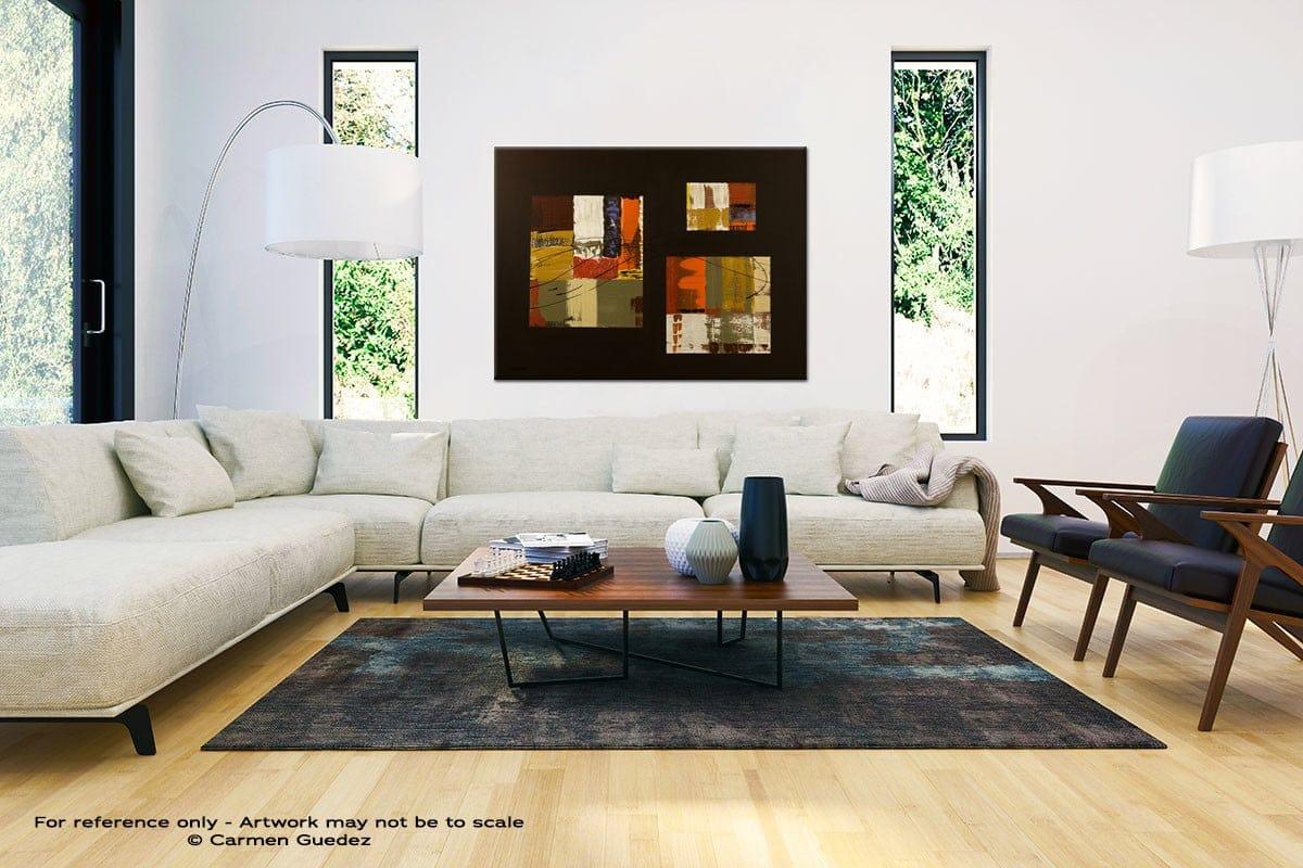 City Scape Black And White Interior Decor Abstract Art Id46