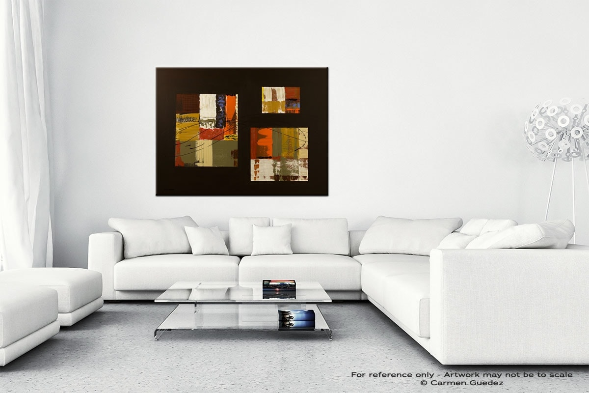 City Scape Canvas Art Abstract Painting Id47