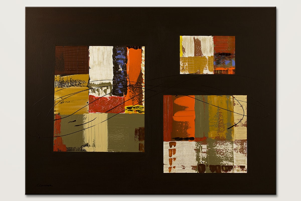 City Scape Contemporary Abstract Painting Id80