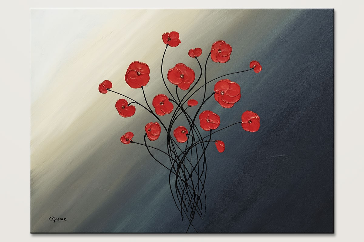 Clair De Lune Abstract Painting Of Flowers Id80