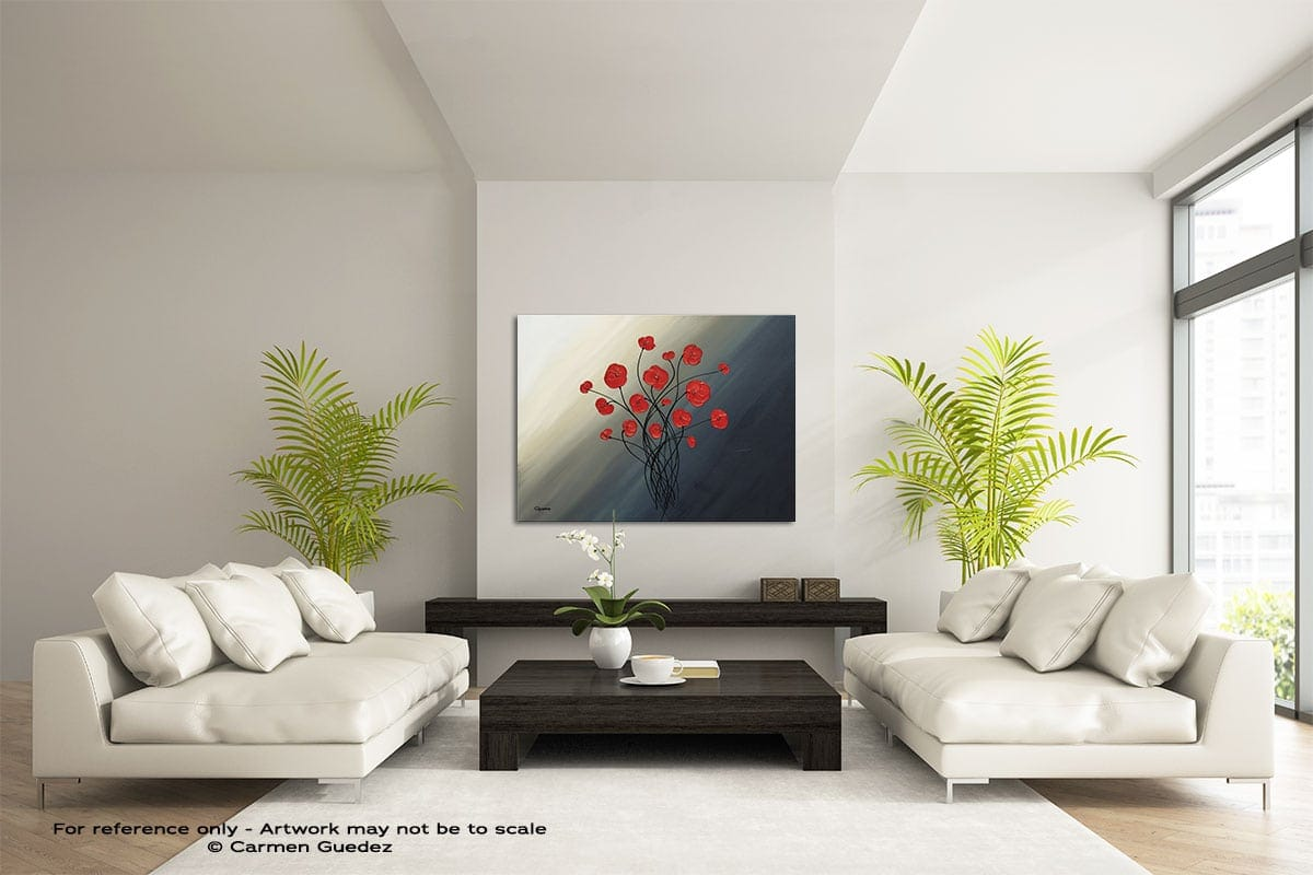 Clair De Lune Large Modern Abstract Art Painting Id49