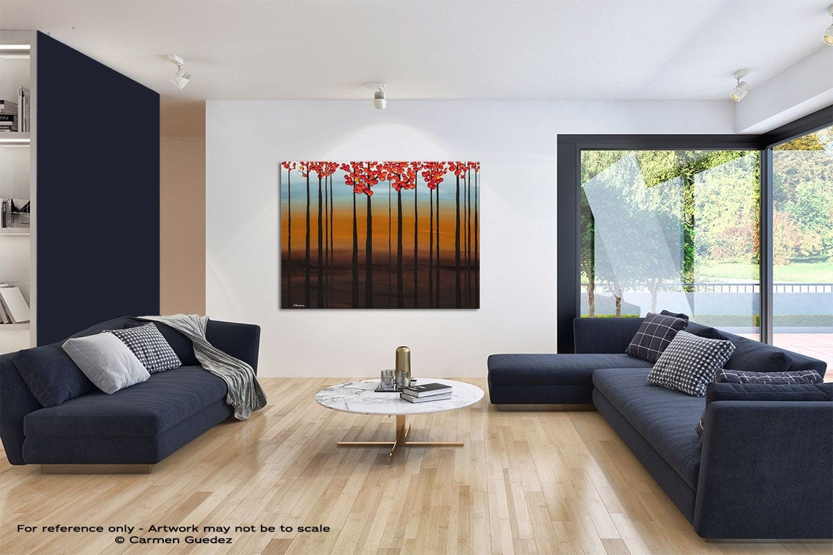 Clear Skies Modern Blue Abstract Painting Home Id50