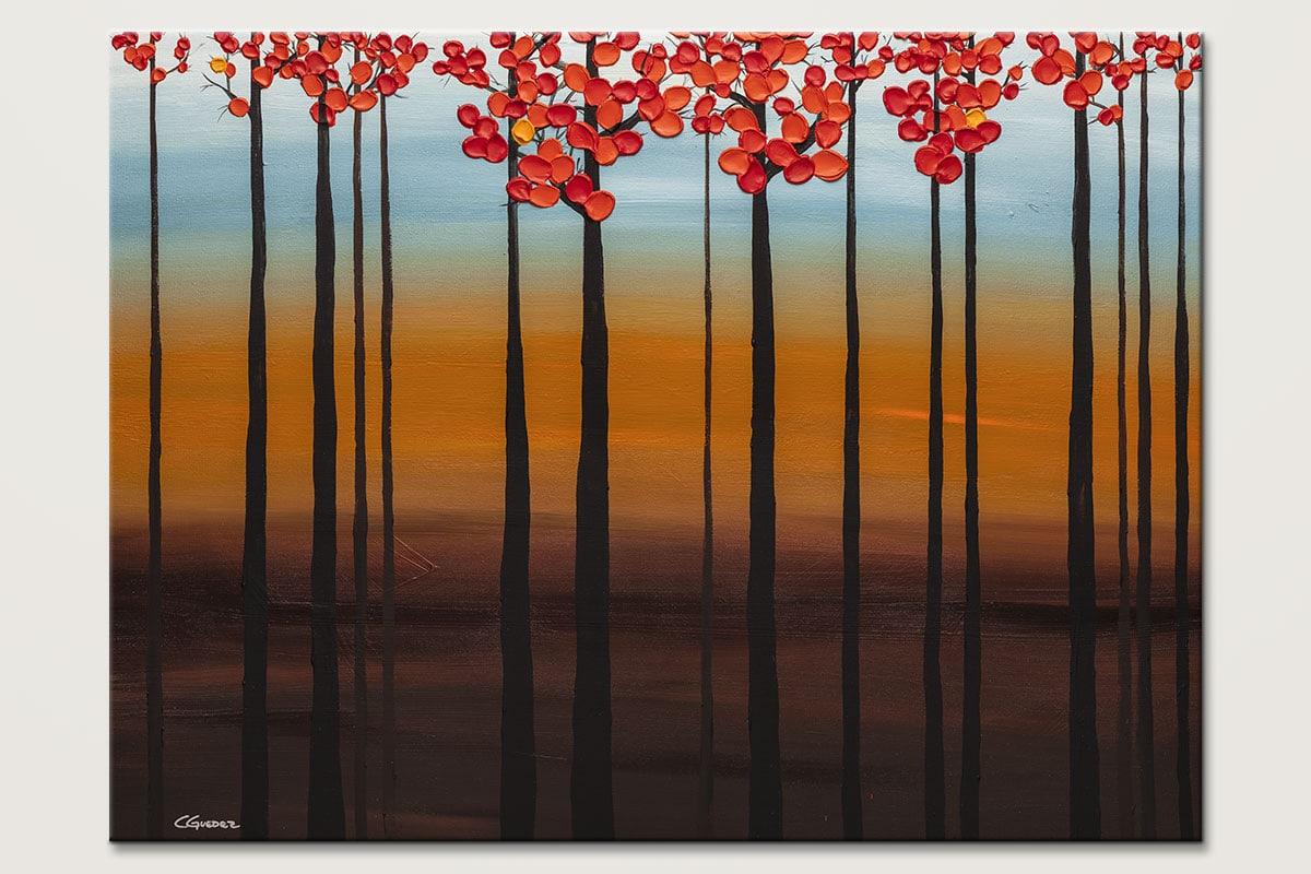 Clear Skies Original Tree Art Painting Id80