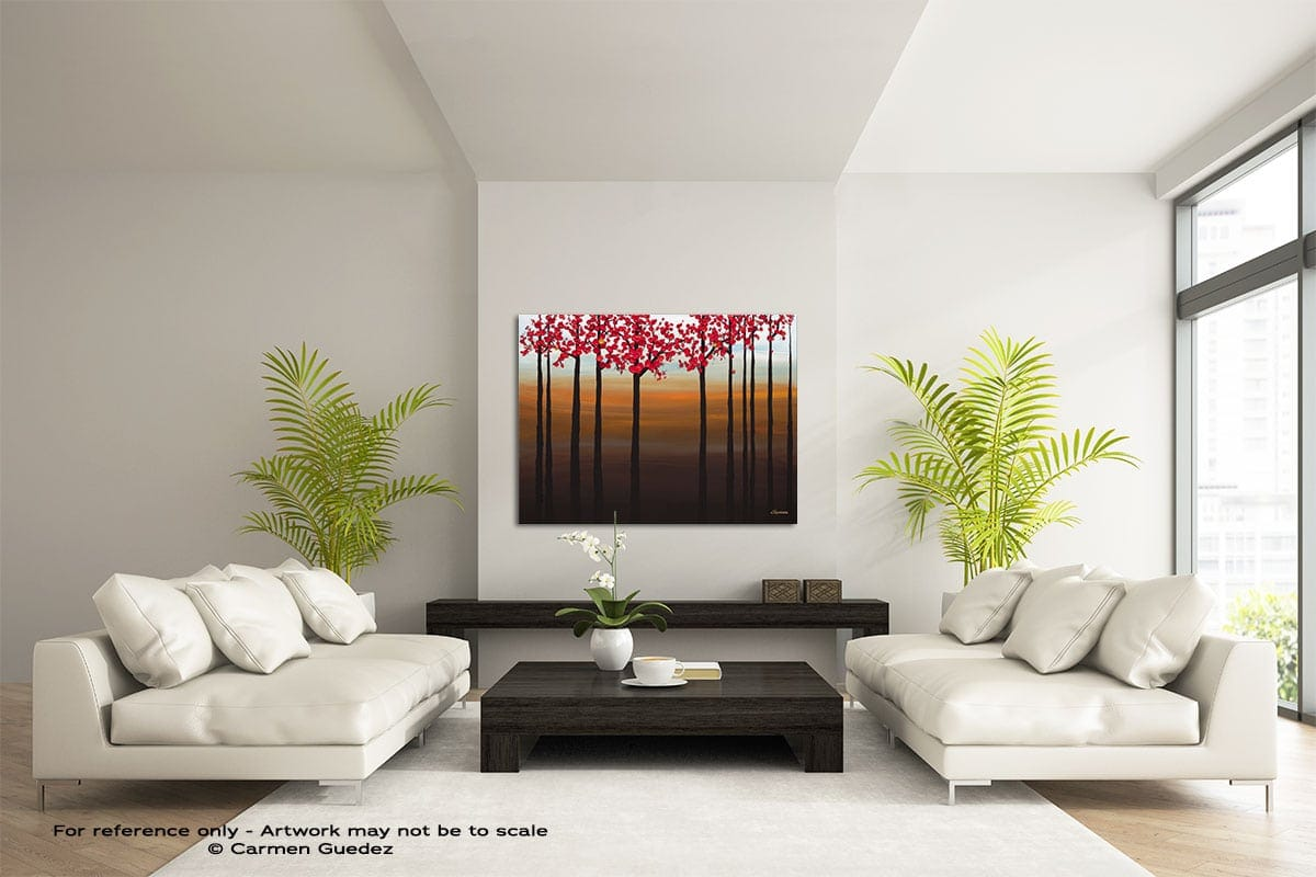 Coastal Paradise Large Modern Abstract Art Painting Id49