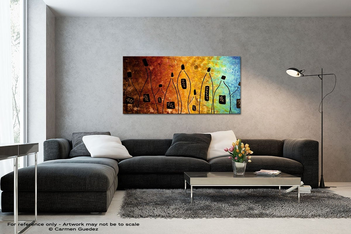 Cocktail Bar Black And White Wall Abstract Art Painting Id70