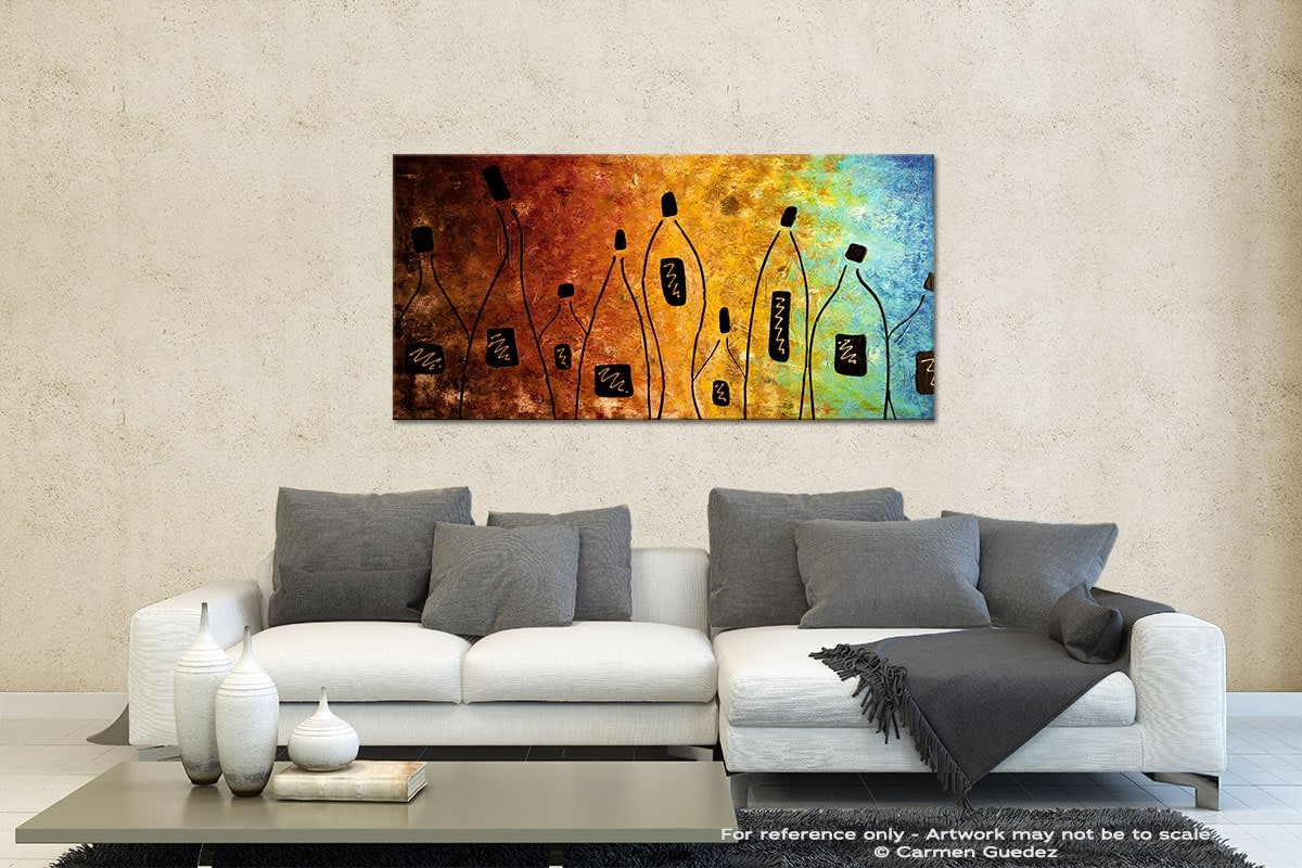 Cocktail Bar Contemporary Abstract Art Id35