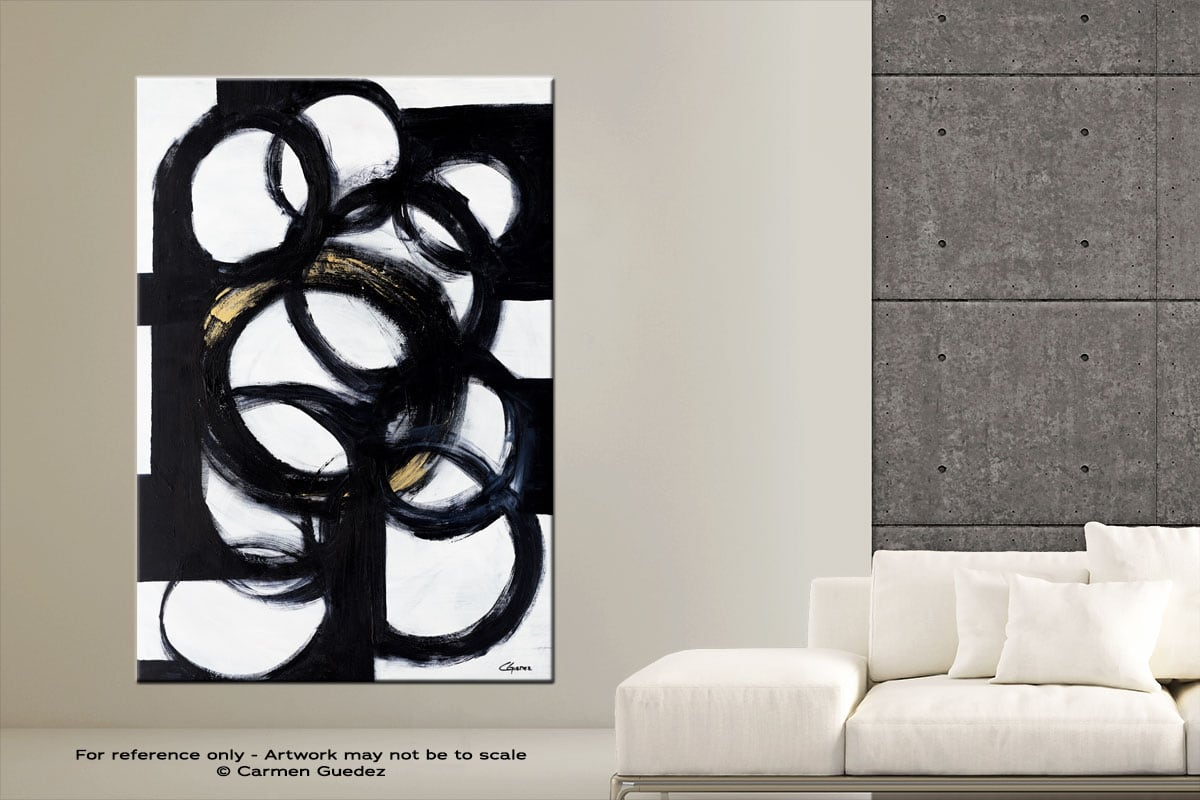 Collective Minds Vertical Abstract Art Painting Large Id76