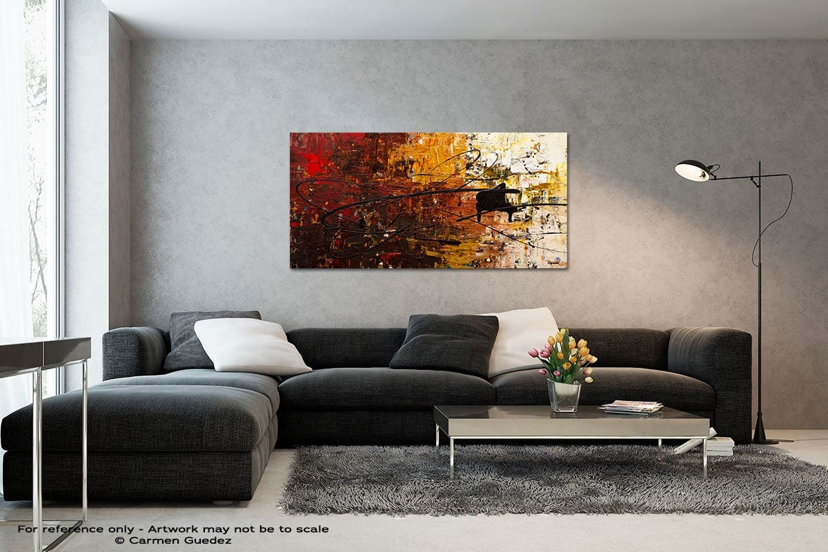 Con Fuoco Black And White Wall Abstract Art Painting Id70