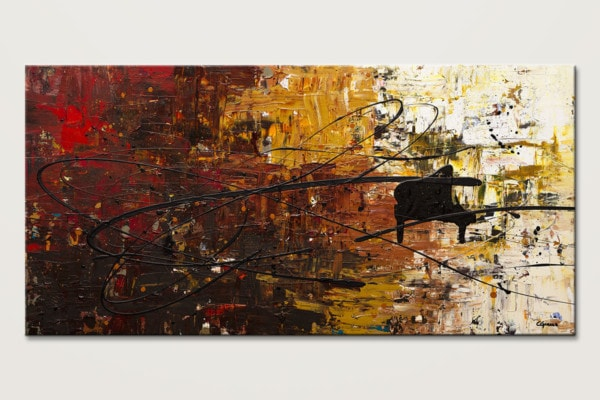 Con Fuoco Music Abstract Art Painting Id80
