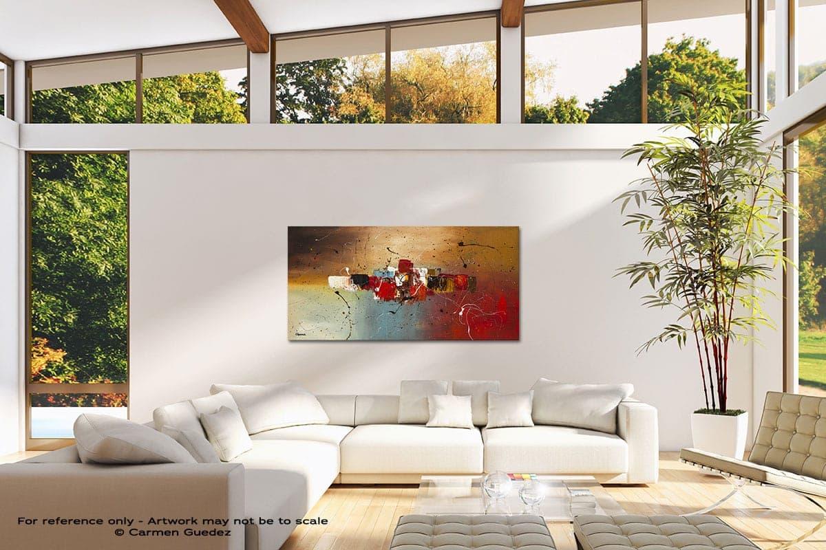Con Te Partiro Modern Canvas Abstract Art Id38