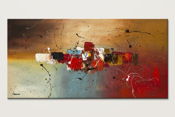 Con Te Partiro Textured Abstract Painting Id80
